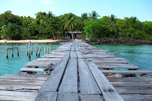 Những ngôi nhà nhỏ ở biển Sihanouk ville