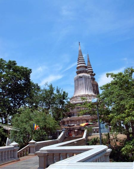 Một góc của cố đô Oudong