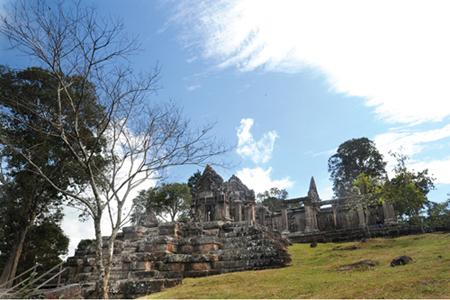 Một góc đền Preah Vihear.