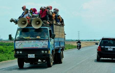Văn hóa giao thông độc, lạ ở Campuchia