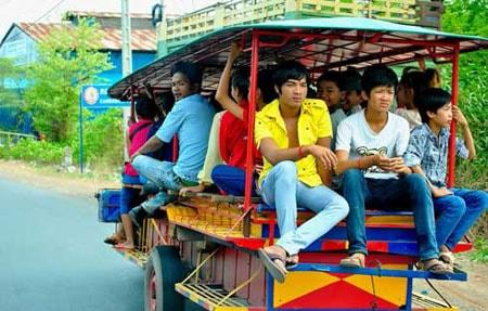 Phương tiện giao thông túc túc yêu thích ở Campuchia