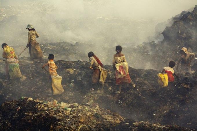 Nơi đây chỉ có rác thải, khói bụi và mùi hôi thối