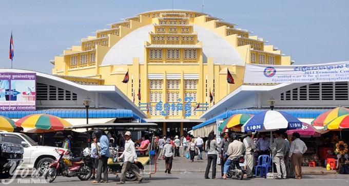 Chợ Mới một biểu tượng tiêu biểu của Phnom Penh
