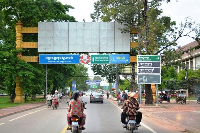 Hiếm thấy cảnh sát giao thông hay tiếng còi xe ở Campuchia