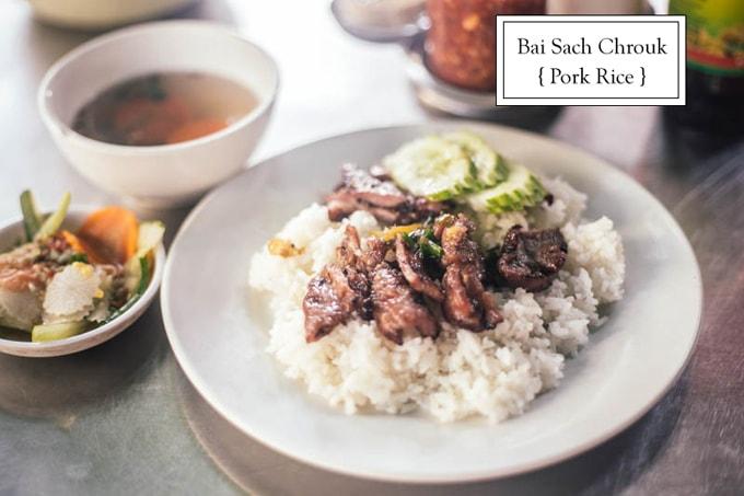 Bai sach chrouk- Cơm thịt heo