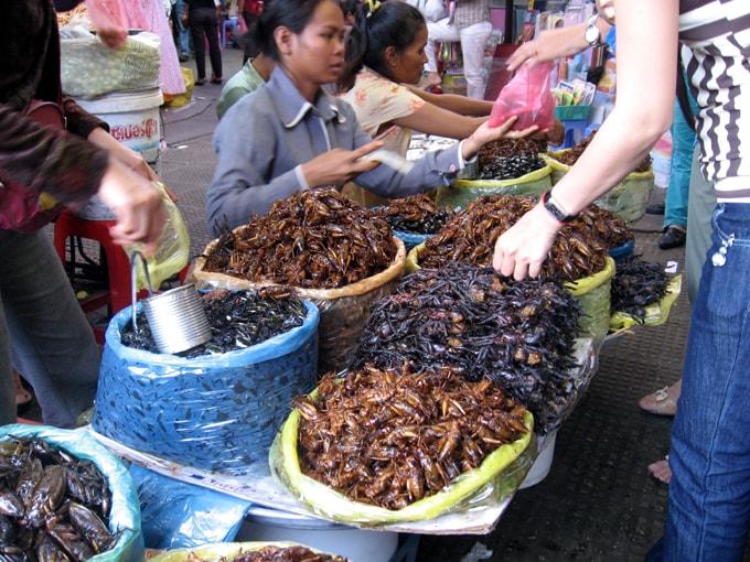 đặc sản côn trùng ở Campuchia-min